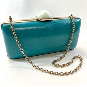 BANANA REPUBLIC with TRINA TURK Turquoise Clutch